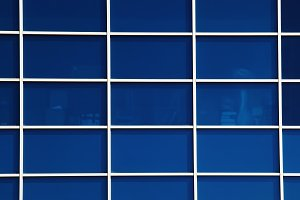 Glass grid in office building background