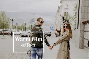 Warm film effect ligtroom preset