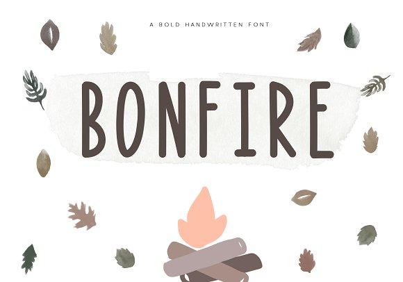 Bonfire A Bold Handwritten Font