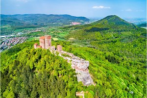 Trifels Castle in the Palatinate Forest. Rhineland-Palatinate, Germany