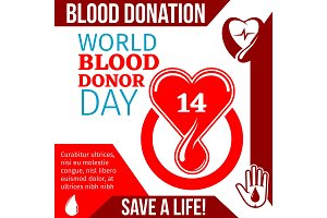 World Blood Donor Day medical banner design