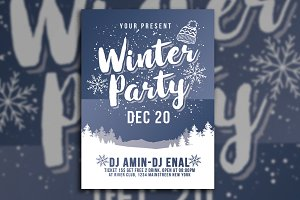 Winter Party Flyer