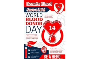 Donate Blood, Save Life banner of World Donor Day