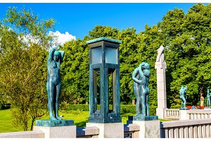Vigeland sculpture installations in Frogner Park - Oslo