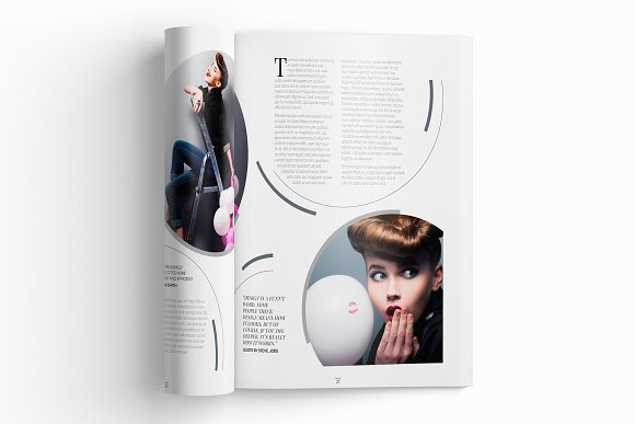 Magazine Template InDesign 10 in Magazine Templates - product preview 5
