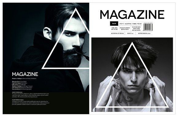Magazine Template InDesign 10 in Magazine Templates - product preview 8
