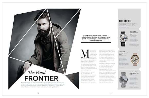 Magazine Template InDesign 10 in Magazine Templates - product preview 10
