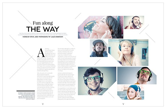 Magazine Template InDesign 10 in Magazine Templates - product preview 12
