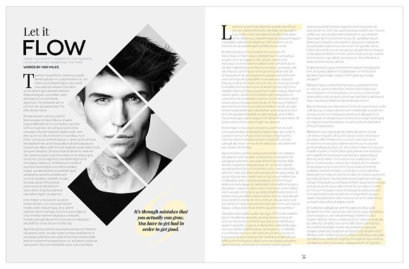 Magazine Template InDesign 10 in Magazine Templates - product preview 27