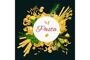 Vector Italian pasta cuisine poster