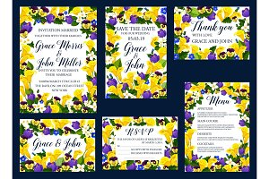 Wedding floral card for invitation banner design