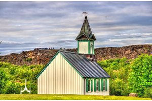 Church in Thingvellir National Park - Iceland