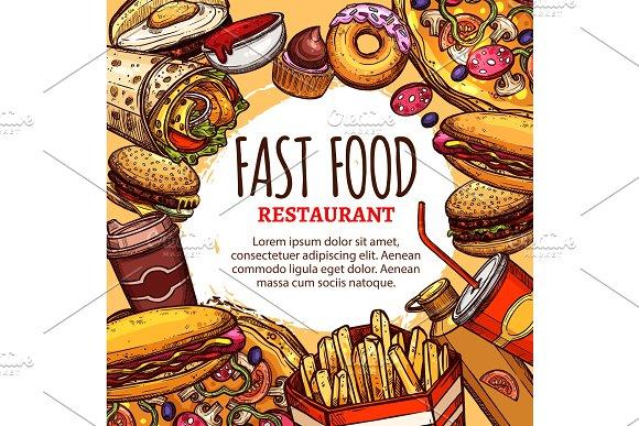 Vector Fastfood Restaurant Menu Poster