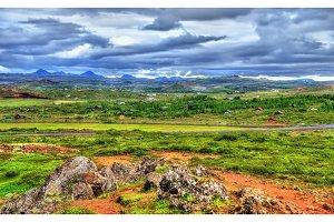Typical rural landscape of Iceland