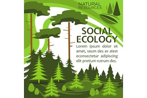 Ecology protection banner for eco lifestyle design