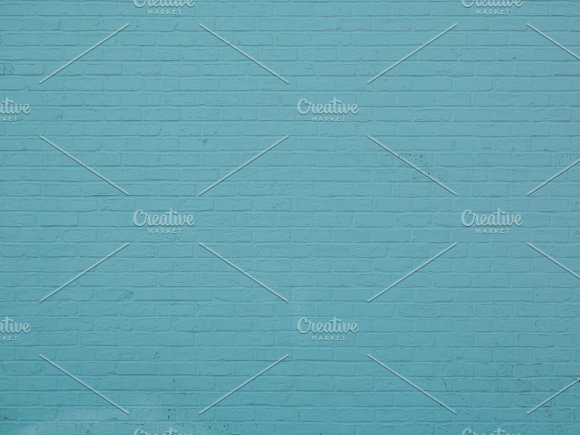 Blue Green Brick Brick Wall Texture