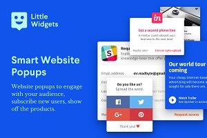 HTML Website Widgets & Popups