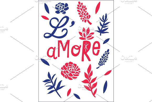 L'amore Love Concept T-shirt Print And Embroidery