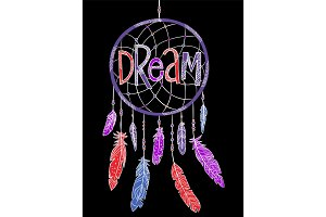 Dream concept t-shirt print and embroidery