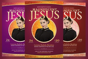 Magnificent Jesus Church Flyer