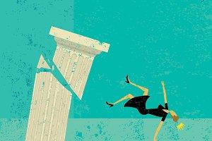 Falling off a pedestal