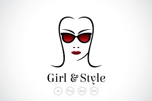 Girl and Style Logo Template