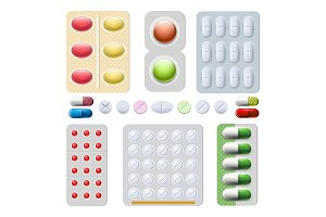 Pills and capsules drugs