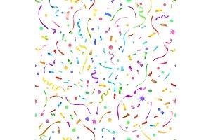 Confetti seamless pattern