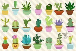 Cacti and Succulents Clipart