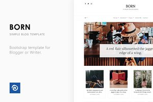 Born - Simple Blog Template