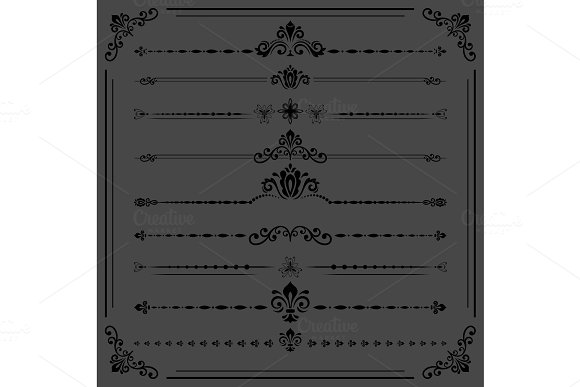 Vintage Set Of Ector Horizontal Elements