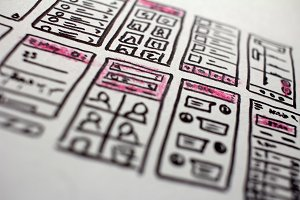 Hand Drawn App Layouts