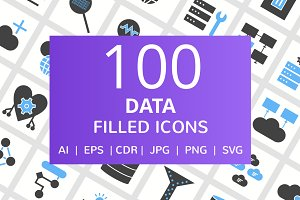 100 Data Filled Icons