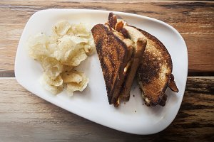 Grilled Sandwich and Chips