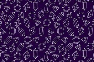 White wire diamonds seamless pattern