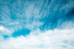 Blue sky background with brush