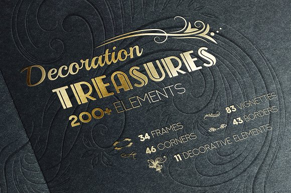 Decoration Treasures Vector Bundle