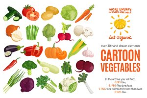 Cartoon Vegetables Set