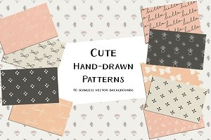 Cute Hand-Drawn Patterns