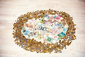 coins and money
