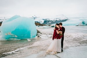 Iceland Wedding in Glacier Lagoon. Wedding outdoor