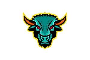 American Bison Head Sports Mascot