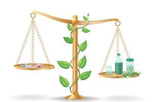 Medicine Libra Balance Concept