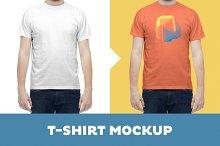 T-Shirt Mockup Template –Male Model