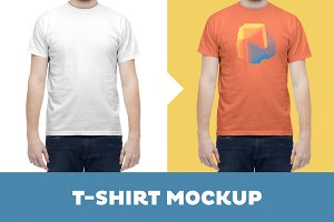 T-Shirt Mockup Template – Male Model