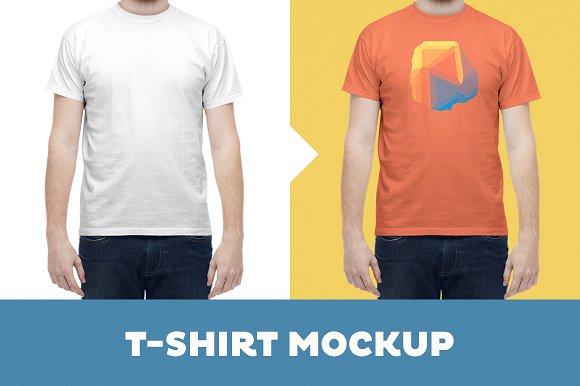 Free T-Shirt Mockup Template –Male Model