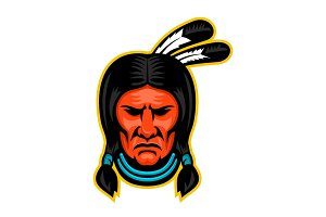 Sioux Chief Sports Mascot