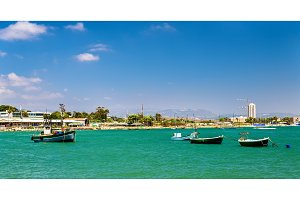 Boats in the port of Acre - Israel