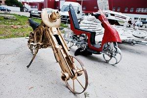 vintage retro classic motorcycle