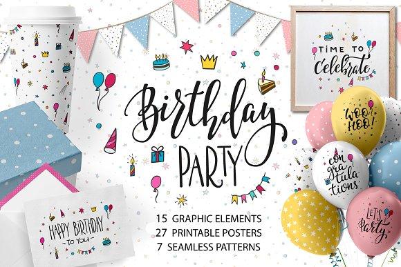 Birthday Party Graphic Set